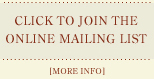Join the Tony Cacalano Mailing List